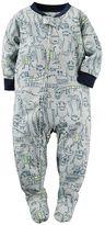Carter's Baby Boy Printed Footed Pajamas