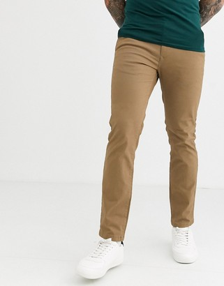 Burton Menswear skinny chinos in tan