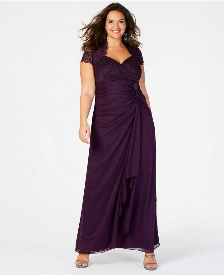 6929643b2624 Plus Size Eggplant Dress - ShopStyle