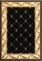 """Kas Corinthian 5321 Black Fleur-de-Lis 2'3"""" x 3'3"""" Area Rug"""