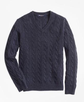 Brooks Brothers Boys Cashmere V-Neck Sweater