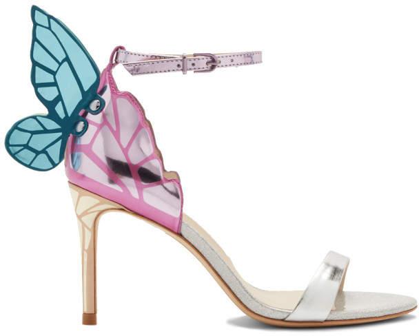 Sophia Webster Silver Chiara Metallic Mid Sandals