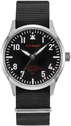 JFK POP Pilot Unisex Quartz Watch with Analogue Quartz Nylon P4260362630055