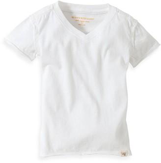 Burt's Bees Baby Baby& Organic Cotton Short Sleeve V-Neck T-Shirt in Cloud