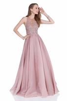 Terani Couture 1612P1124A Illusion Halter Neck Ballgown