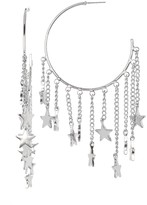 Steve Madden Large Star Charm Threader C-Hoop Earrings