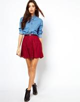 Asos Skater Skirt in Floral Lace