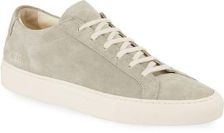 Common Projects Men's Achilles Suede Low-Top Sneakers