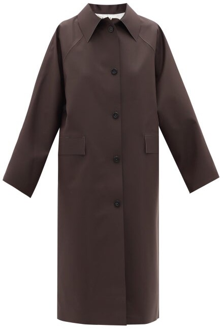 Thumbnail for your product : Kassl Editions Original Below Rubber Trench Coat - Dark Brown