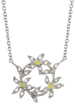 Cathy Waterman Circle of Flowers Pendant - Platinum