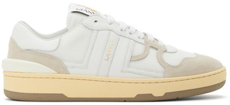 Lanvin White Clay Low-Top Sneakers