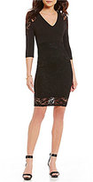Gianni Bini Sonja Lace Sleeve Sheath Dress