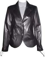 Paccilo Nettailor 4065 Fitted Crop Leather Blazers Fashion Leather Jackets Womens