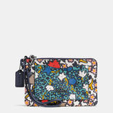 Coach Small Wristlet In Mixed Yankee Floral Print Canvas