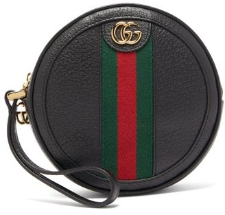 Gucci Ophidia Leather Wristlet Pouch - Black