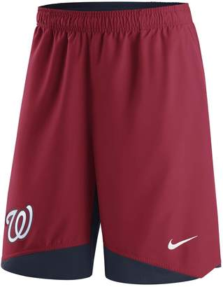 Nike Men's Red Washington Nationals Authentic Collection Dry Woven Performance Shorts