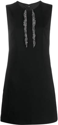 Pinko Applique Fringe Sheath Dress