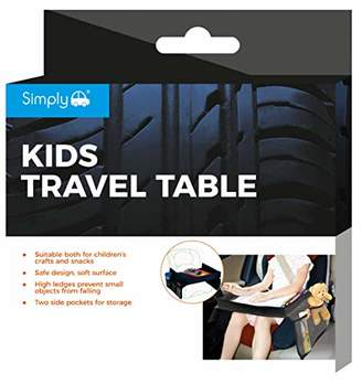 Simply KTT1 Kids Snack and Play Travel Table, Black