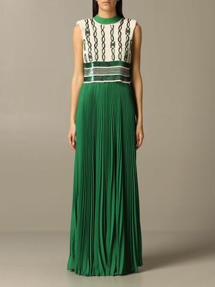 Elisabetta Franchi Dress With Sequin Chains
