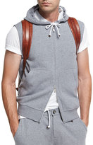 Brunello Cucinelli Spa Double-Sided Sleeveless Hoodie, Medium Gray
