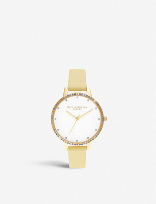 Olivia Burton OB16RB20 Rainbow gold-toned stainless steel and leather watch