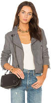 June Stonewash Vintage Moto Leather Jacket in Gray. - size S (also in XS)