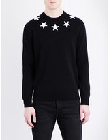 Givenchy Star-appliqué Knitted Jumper