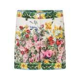 Dolce & Gabbana Dolce & GabbanaGirls Floral Majolica Print Shorts