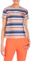 Etienne Aigner Printed Short Sleeve Top
