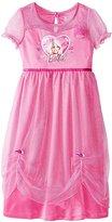 Disney Girls Minnie Mouse Fancy Nightgown Pajamas (, Minnie)