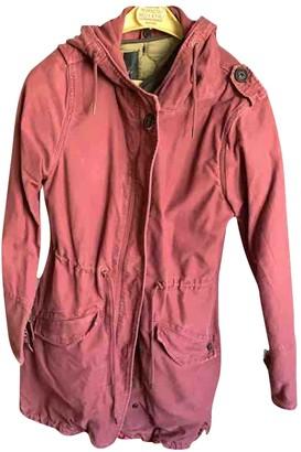 Maison Scotch Burgundy Cotton Coat for Women