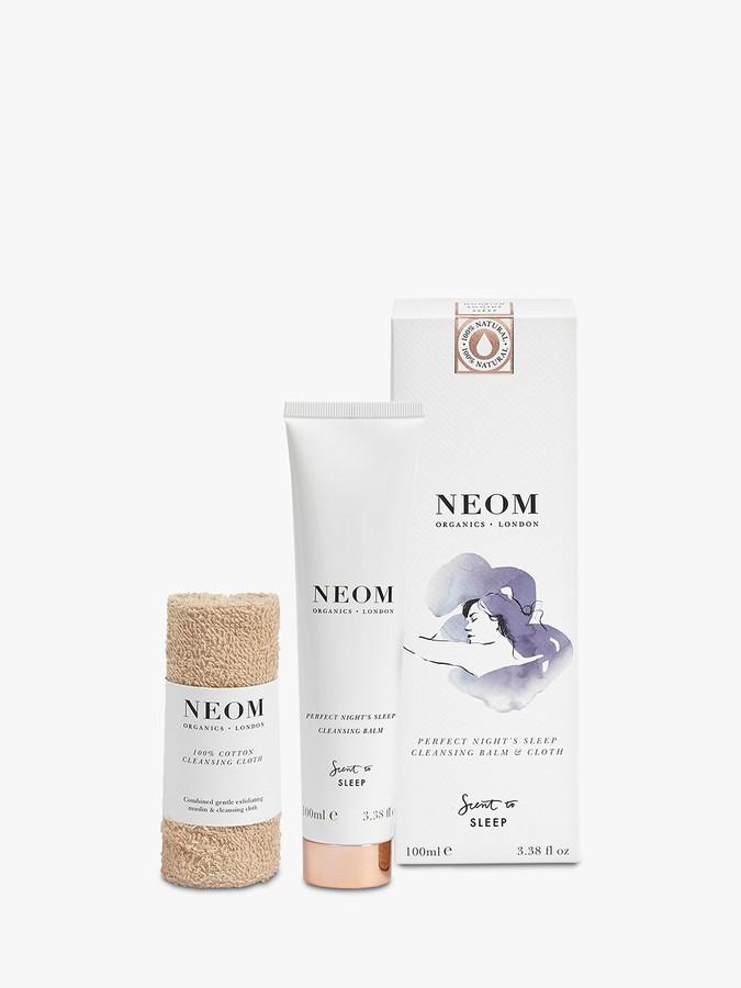 Neom Organics London Perfect Night's Sleep Cleansing Balm And Cloth, 100ml