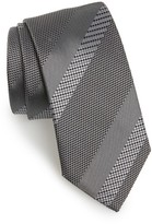 HUGO Men's Boss Stripe Silk Tie