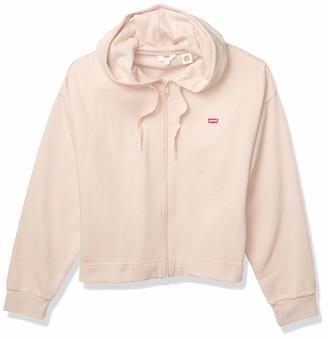 Levi's Women's Crop Zip Sweatshirt Hoodie