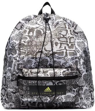adidas by Stella McCartney Snakeskin-Print Logo Backpack
