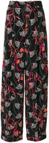 Valentino floral print palazzo pants - women - Silk - 38