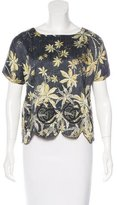 Suno Silk Embroidered Top