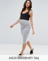Asos Tall Midi Pencil Skirt In Jersey