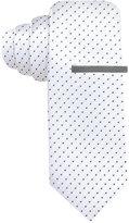 Alfani Men's White Skinny Tie, Created for Macy's