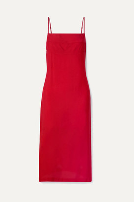 Haight Paula Cady Midi Dress - Red