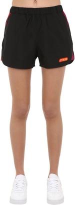 Heron Preston Logo Printed Nylon Shorts