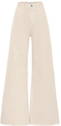 ATTICO High-rise wide-leg jeans