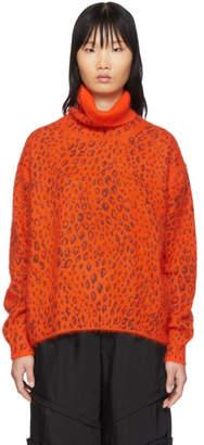 Comme des Garcons Orange Brushed Wool Turtleneck