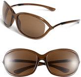 Tom Ford Women's 'Jennifer' 61Mm Polarized Sunglasses - Dark Brown/ Polarized