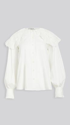 Sea Marina Lace Collar Shirt