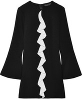 Rachel Zoe Monner Ruffled Crepe Mini Dress - Black