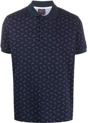 Paul & Shark All-Over Logo Polo Shirt