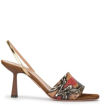 Aquazzura Leigh 70mm slingback sandals