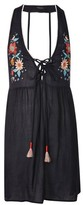 Topshop Embroidered Mini Beach Dress