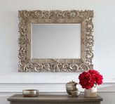 Pottery Barn Savannah Carved Wood Mirror